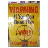METAL SIGN (WARNING I CAN SEE YOU)