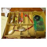 CADDY WITH FISHING LURES TOP & BOTTOM