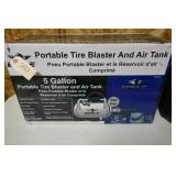 PORTABLE TIRE BLASTER AND AIR TANK