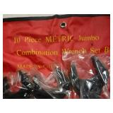 NEW 10 PC. LARGE SET OF METRIC WRENCHES