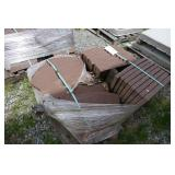PALLET OF STAMPED CONCRETE PAVERS
