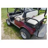 CLUB CAR LIFTED GOLF CART W/ ATV TIRES (GAS)