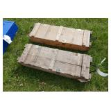 2 WOODEN AMMO BOXES