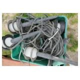 TOTE OF LOW VOLTAGE OUTDOOR LIGHTS