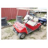 CLUB CAR ELECTRIC GOLF CART-RED-W/CHARGER