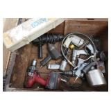 BOX OF POWER TOOLS & PNUEMATIC TOOLS