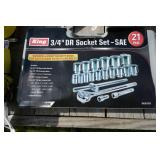 """NEW KING 3/4"""" 21 PIECE SOCKET SET WITH"""