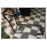 BLACK STACKING CART FOR CHAIRS