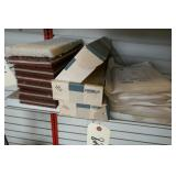 BOX OF 120 & 180 SANDPAPER, 6 SANDING MATS,