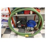 BRIGGS & STRATTON WATER PUMP W/HOSES & ACCESSORIES