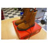 "NEW WOLVERINE-FOSTER SIZE 10M WORK BOOTS-8""TALL"