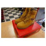 "NEW WOLVERINE - BARKLEY SIZE 9M WORK BOOTS-8""TALL-"