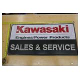 KAWASAKI ENGINE/POWER PRODUCT TIN SIGN