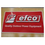 EFCO QUALITY OUTDOOR POWER TIN SIGN