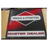 BRIGGS & STARATTON TIN SIGN