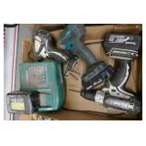 3 MAKITA DRILLS 18V LITHIUM-ION 2 BATTERIES