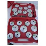 NEW - 23PC. CUP STYLE OIL FILTER WRENCH SET