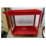 NEW-4 WHEEL/2 SHELF ROLLING TOOL CART