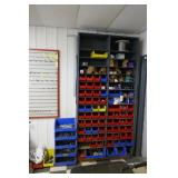 SHELF UNIT W/NUTS & BOLTS, SCREWS,