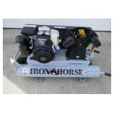 NEW - IRON HORSE WHEEL BARROW STYLE AIR COMPRESSOR