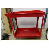 NEW - 4 WHEEL, 2 SHELF ROLLING TOOL CART