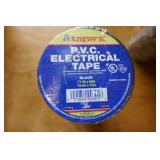 "10 ROLLS P.V.C. ELECTRICAL TAPE-BLACK-.71""X60"