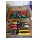 BOX LOT 7 TIN SNIPS