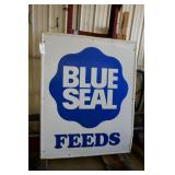 BLUE SEAL FEEDS METAL SIGN