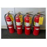 4 FIRE EXTINGUISHERS