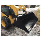 "TOMAHAWK SKID STEER Q/A 72"" BUCKET-NEW"
