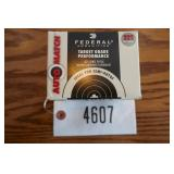 .22LR FEDERAL AUTO MATCH AMMO 40 GRAIN-325 ROUNDS-