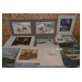 OLD PAINTINGS & PRINTS-MANY SIGNED AND NUMBERED