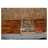 OLD AUCTION POSTERS