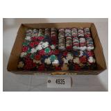 LARGE ASSORTMENT OF CLAY POKER CHIPS