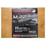 .22 LR WINCHESTER M22 AMMO-40 GRAIN-500 ROUNDS