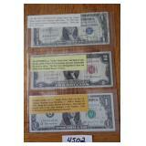 1963 JOESPH BARR $1 NOTE,1935 SILVER CERTIFICATE,