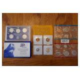 PROOF SET W/4 COINS,2-1972 US MINT SETS,
