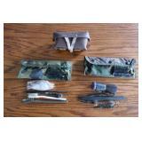 2-MMILITARY GUN CLEANING KITS & AMMO POUCH