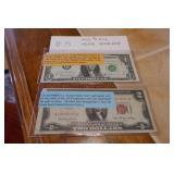 1953 $2 BILL, 1963B $1 BARR NOTE