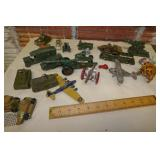 TOY PARTS OF OLD MILITARY PLANES & TRUCKS