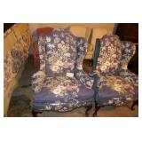2 WING BACK SIDE CHAIRS