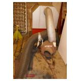 TRAC VAC LEAF BLOWER FOR A TRACTOR