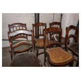 6 WOOD CHAIRS