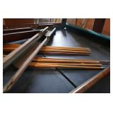 SLATE TOP POOL TABLE W/ CUES