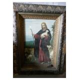 ORNATE FRAMED RELIGIOUS PRINT