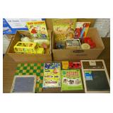 2- BOXES GAMES, TOYS, PUZZELS