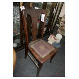 OAK T BACK CHAIR
