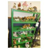 6 TIER SHELF W/CONTENTS-HORSES,RABBITS,MANATEE,ETC