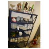 6 TIER SHELF W/LEXOX CHRISTMAS DISHES,