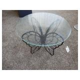 Glass Table Top with Butterfly Legs